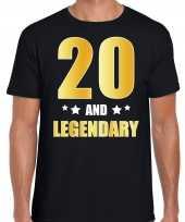 And legendary verjaardag cadeau t-shirt goud jaar zwart heren 10232730
