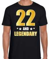 And legendary verjaardag cadeau t-shirt goud jaar zwart heren 10232732