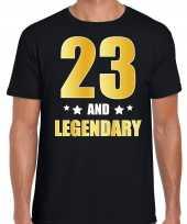 And legendary verjaardag cadeau t-shirt goud jaar zwart heren 10232733