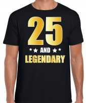And legendary verjaardag cadeau t-shirt goud jaar zwart heren 10232735