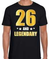 And legendary verjaardag cadeau t-shirt goud jaar zwart heren 10232736