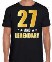 And legendary verjaardag cadeau t-shirt goud jaar zwart heren 10232737