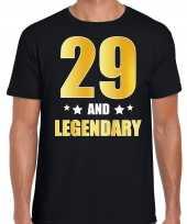 And legendary verjaardag cadeau t-shirt goud jaar zwart heren 10232739