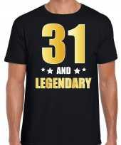 And legendary verjaardag cadeau t-shirt goud jaar zwart heren 10232741