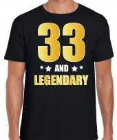 And legendary verjaardag cadeau t-shirt goud jaar zwart heren 10232743