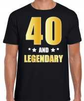 And legendary verjaardag cadeau t-shirt goud jaar zwart heren 10232750