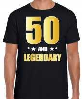 And legendary verjaardag cadeau t-shirt goud jaar zwart heren 10232760