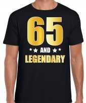 And legendary verjaardag cadeau t-shirt goud jaar zwart heren 10232775