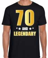 And legendary verjaardag cadeau t-shirt goud jaar zwart heren 10232780