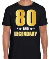 And legendary verjaardag cadeau t-shirt goud jaar zwart heren 10232790
