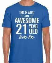 Awesome year jaar cadeau t-shirt blauw heren 10199968