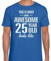 Awesome year jaar cadeau t-shirt blauw heren 10199979