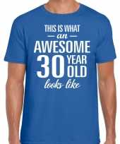 Awesome year jaar cadeau t-shirt blauw heren 10199994