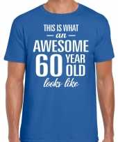 Awesome year jaar cadeau t-shirt blauw heren 10200035