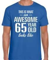 Awesome year jaar cadeau t-shirt blauw heren 10200049