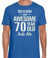 Awesome year jaar cadeau t-shirt blauw heren 10200060