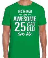 Awesome year jaar cadeau t-shirt groen heren 10199981