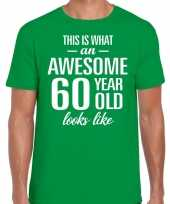 Awesome year jaar cadeau t-shirt groen heren 10200038