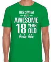 Awesome year jaar cadeau t-shirt groen heren