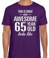 Awesome year jaar cadeau t-shirt paars heren 10200054