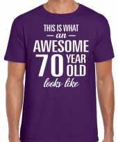 Awesome year jaar cadeau t-shirt paars heren 10200063