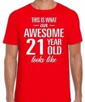 Awesome year jaar cadeau t-shirt rood heren 10199976