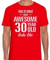 Awesome year jaar cadeau t-shirt rood heren 10200002