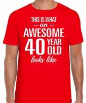 Awesome year jaar cadeau t-shirt rood heren 10200016