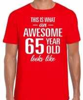 Awesome year jaar cadeau t-shirt rood heren 10200055