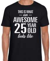 Awesome year jaar cadeau t-shirt zwart heren 10193521