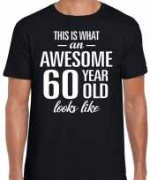 Awesome year jaar cadeau t-shirt zwart heren 10193525