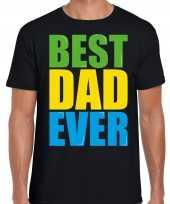 Best dad ever beste vader ooit fun t-shirt zwart heren