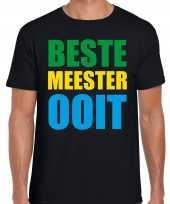Beste meester ooit cadeau t-shirt zwart heren