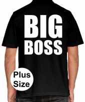 Big boss grote maten poloshirt zwart heren
