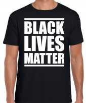 Black lives matter demonstratie protest t-shirt zwart heren 10212251