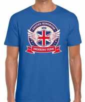 Blauw engeland drinking team t shirt heren