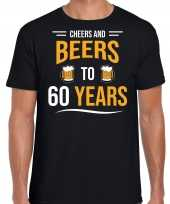 Cheers and beers jaar verjaardag cadeau t-shirt zwart heren 10251692