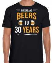 Cheers and beers jaar verjaardag cadeau t-shirt zwart heren 10251695