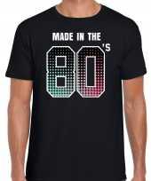 Eighties t-shirt shirt made the s geboren jaren zwart heren