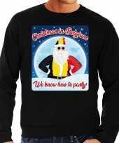 Foute belgie kersttrui christmas belgium zwart heren shirt