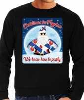 Foute friesland kersttrui christmas fryslan zwart heren shirt