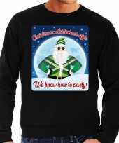 Foute kersttrui christmas achterhoek style zwart heren shirt