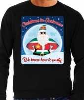 Foute kersttrui christmas suriname zwart heren shirt