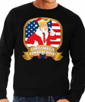 Foute kersttrui zwart christmas is gonne be huge heren shirt