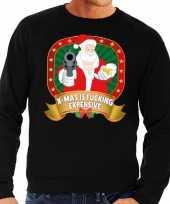 Foute kersttrui zwart mas is fucking expensive heren shirt