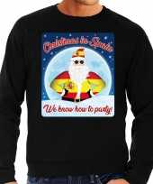 Foute spanje kersttrui christmas spain zwart heren shirt