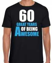 Great years of being awesome verjaardag cadeau t-shirt zwart heren 10251764
