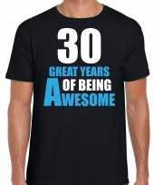 Great years of being awesome verjaardag cadeau t-shirt zwart heren 10251768
