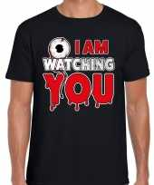 Halloween i am watching you verkleed t-shirt zwart heren
