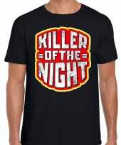 Halloween killer of the night verkleed t-shirt zwart heren
